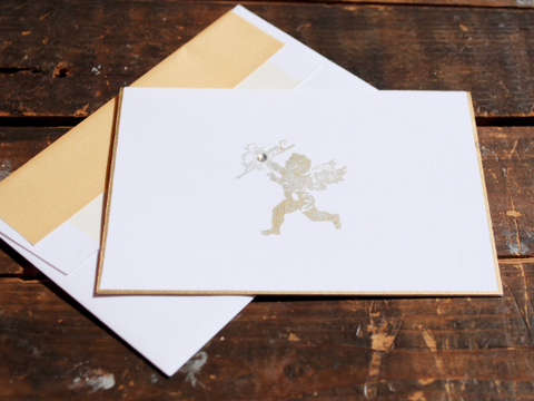 Cupid Note Cards, Note Card, Cupid Cards, Greeting Card, Wedding Note Card, Mother's Day Card, Thank You Card, Set of 8