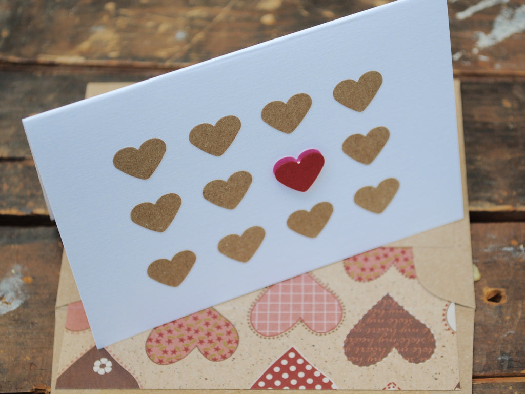Love Note Cards, Lots of Hearts Cards, Mother's Day Cards, Wedding Cards, Thank You Cards, Greeting Cards, Set of 8 Cards