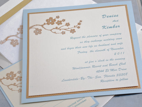 Wedding Invitations - Light and Elegant with Flowers