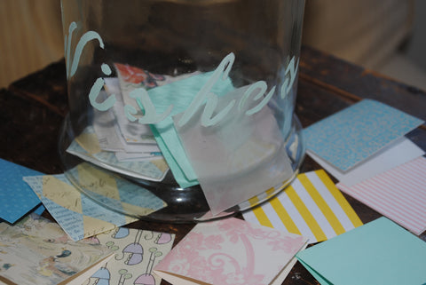 Wish Jar, Handpainted, Comes with 100 Decorative Blank Papers for Wishes