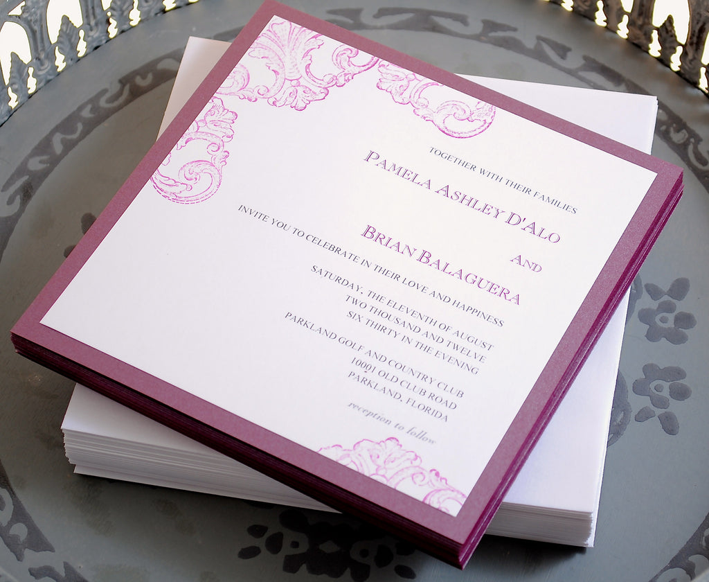 Custom Wedding Invitations in Color