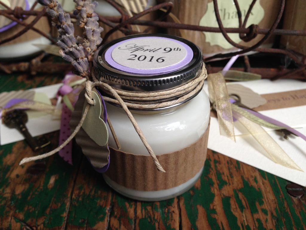 Lavender Soy Candle in Glass Jar