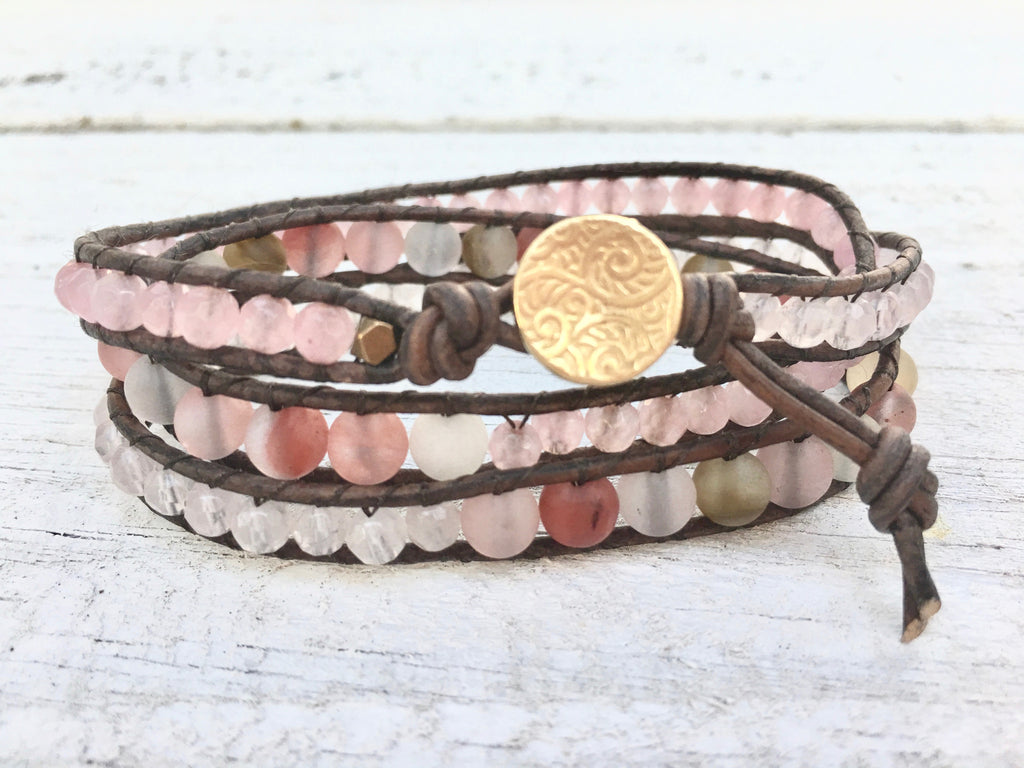 Mother's Day Triple Leather Wrap Bracelet