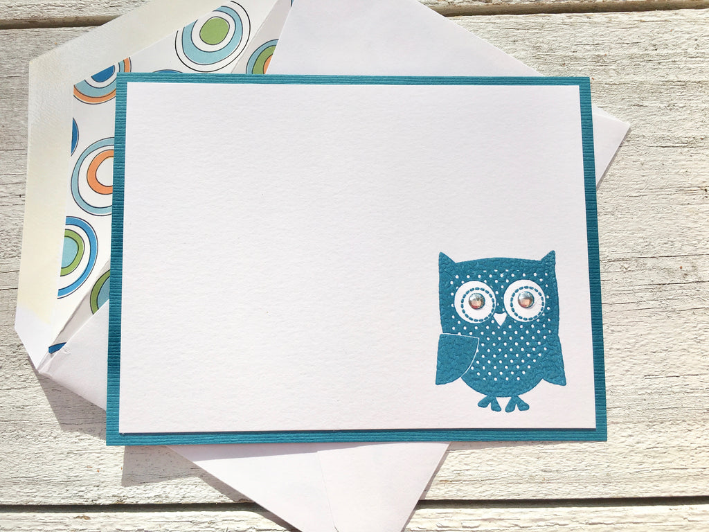 Owl Note Cards, Owl Stationery, Personalized Note Cards