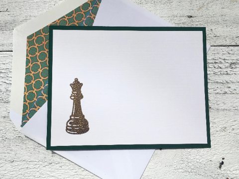 Chess Note Cards, Chess Piece Note Cards, Chess Stationery,  Personalized Note Cards, Thank You Notes, Personalized Stationery, Set of 8