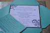 Bat Mitzvah Invitation, wrapped up in ribbon - Custom, 3 Layers of Paper, Crystals and Stamping, Tulip Envelope, Made to Order