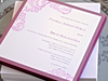 Wedding Invitations - Vintage inspired, elegantly stamped and embossed with matching envelope, Handmade