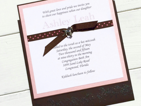 Custom Invitation, Bat Mitzvah, Birthday, Shower, Equestrian Themed, Pink and Brown, Horse Invitations