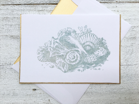 Seashore Note Cards, Beach Note Cards, Salt Life Note Cards, Nautical Stationery, Set of 8