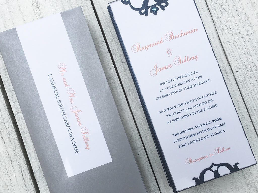 Wedding Invitation, Elegant Wedding Invitation, Vintage Wedding ...