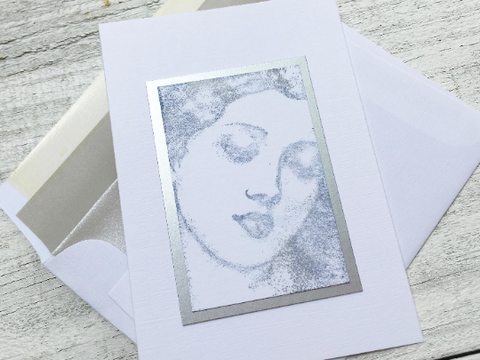 Women's Face Note Cards, Woman in thought Note Cards, Greeting Cards, Personalized Stationery, Thank You Cards, Greeting Cards, Set of 8