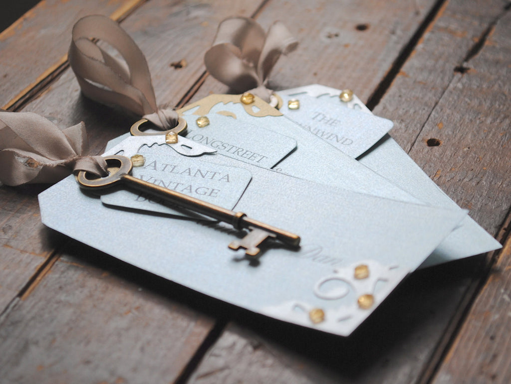 Antique Key Table Cards, Seating Cards, Table Cards, Wedding Seating Cards
