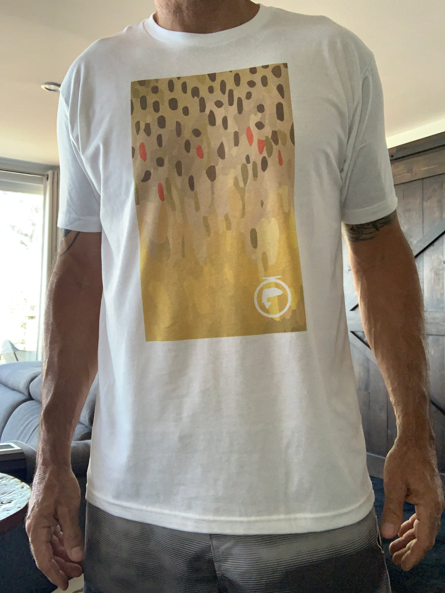 Skin Art Tee - Brown Trout