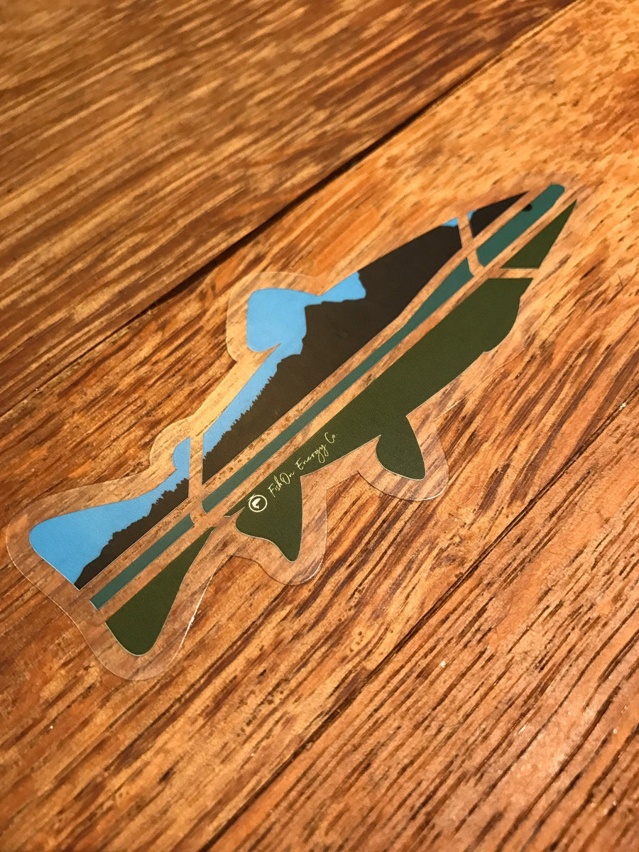 "5"" Outdoors Trout Clear Sticker (Outdoor Use)"
