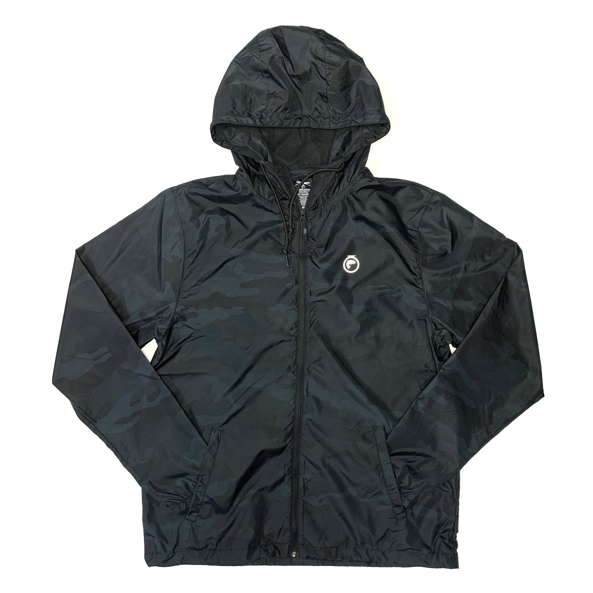 Ultra Lightweight Windbreaker Jacket - Black Camo