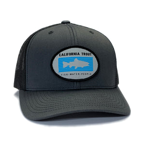 Cal Trout Trucker Hat - Oval Patch (Unisex)