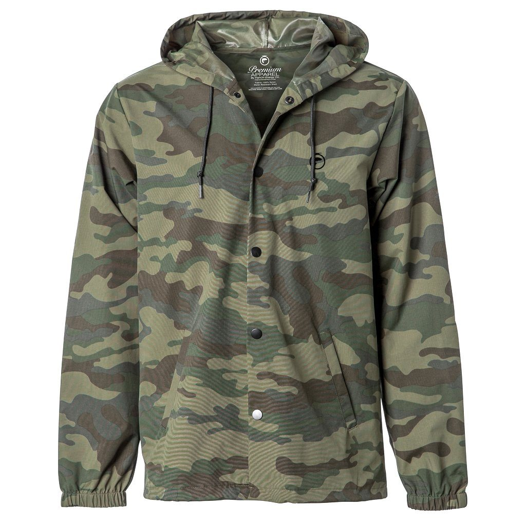 Water Resistant Hooded Windbreaker Jacket