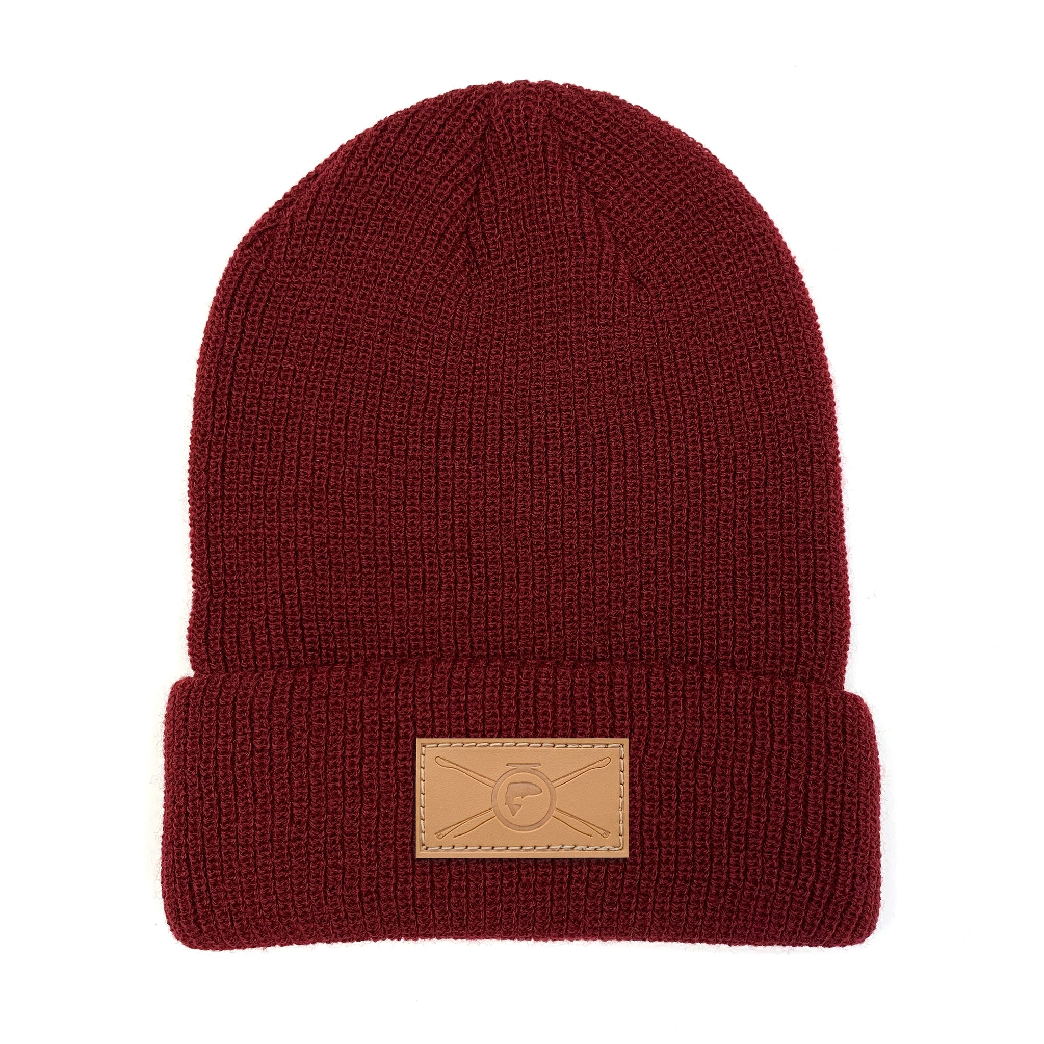 Cuff Beanie - Burgundy - Rods & Roll