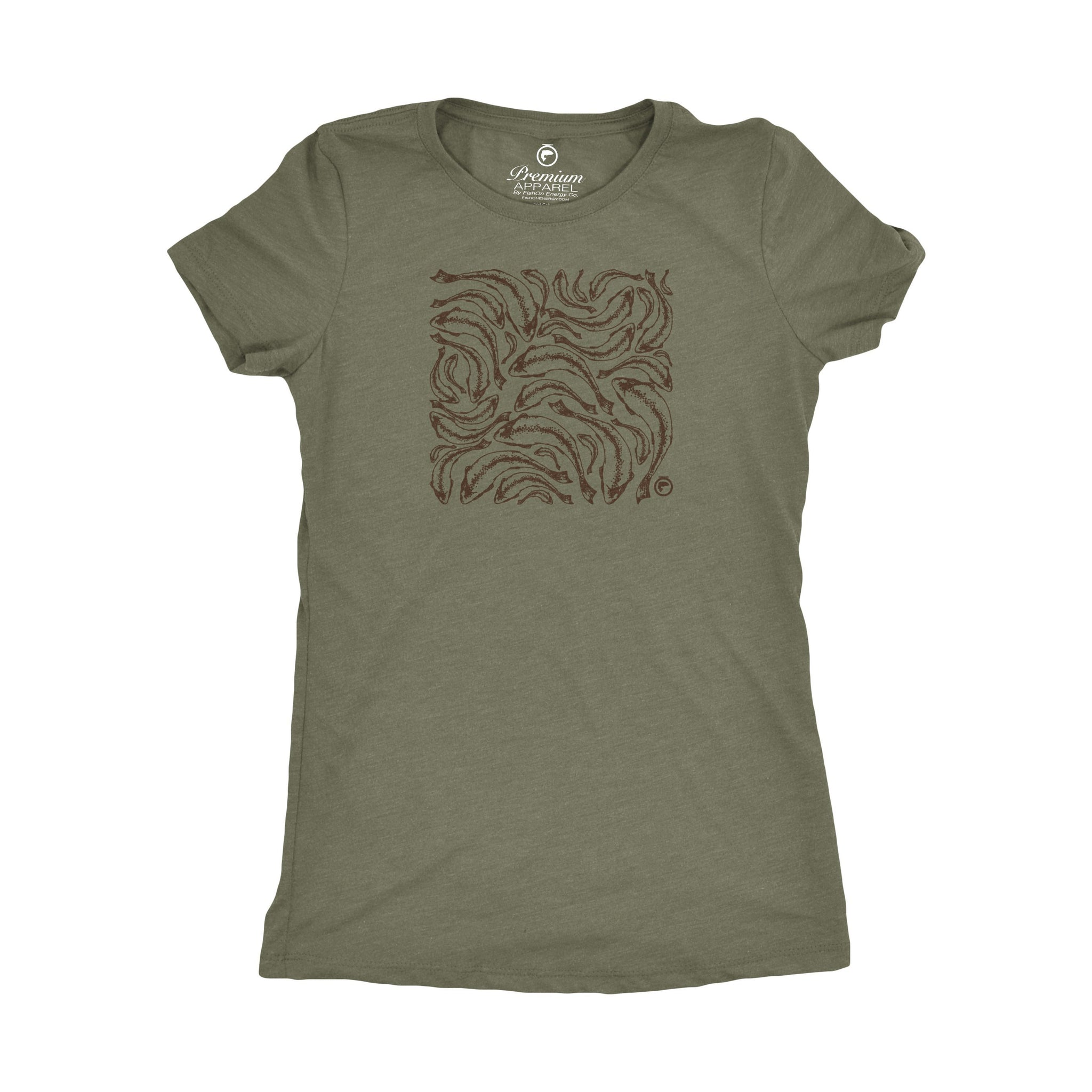 Trout Print Tee - Ladies