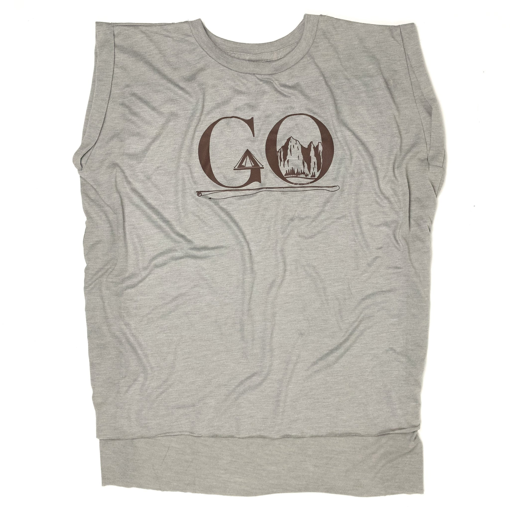 GO Sleeveless Tee - Stone