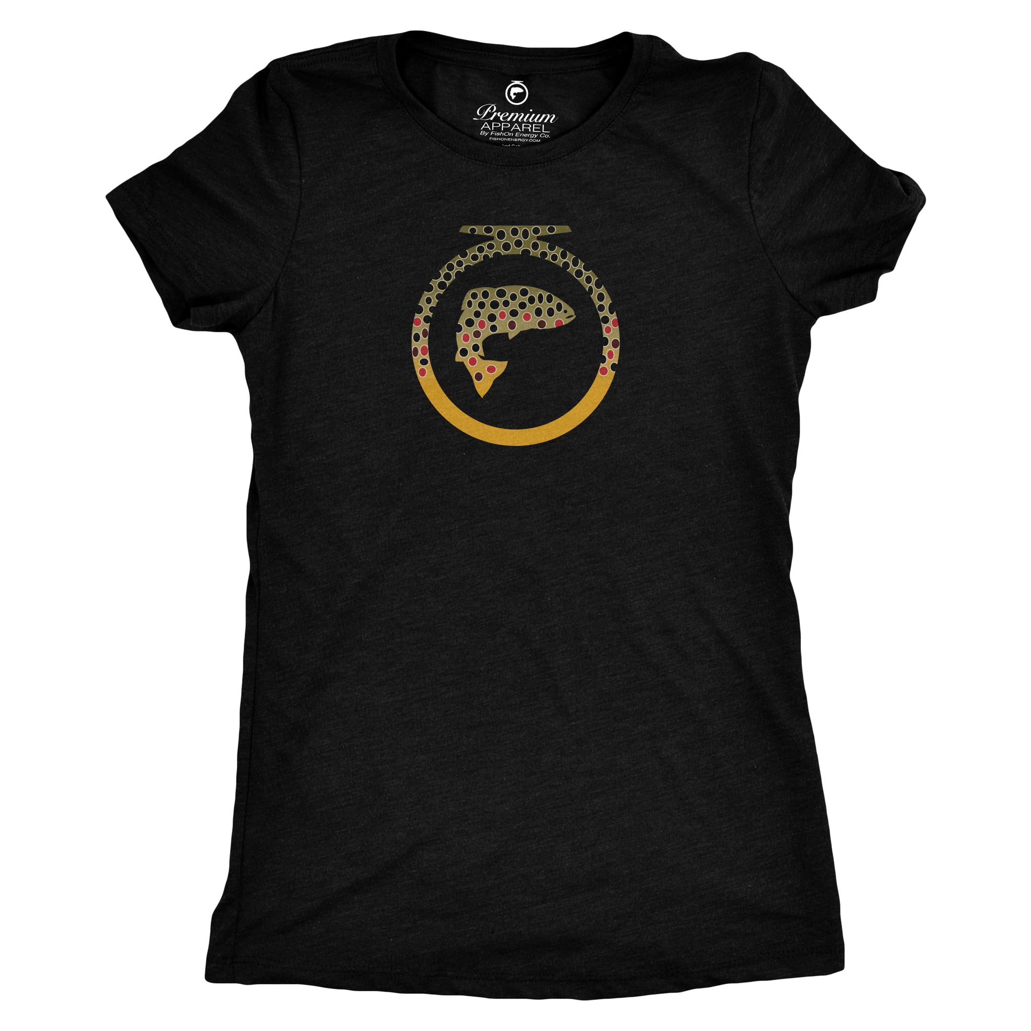 Skins Tee - Brown Trout - Ladies