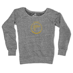Brown Trout Logo Fleece Sweatshirt - Ladies