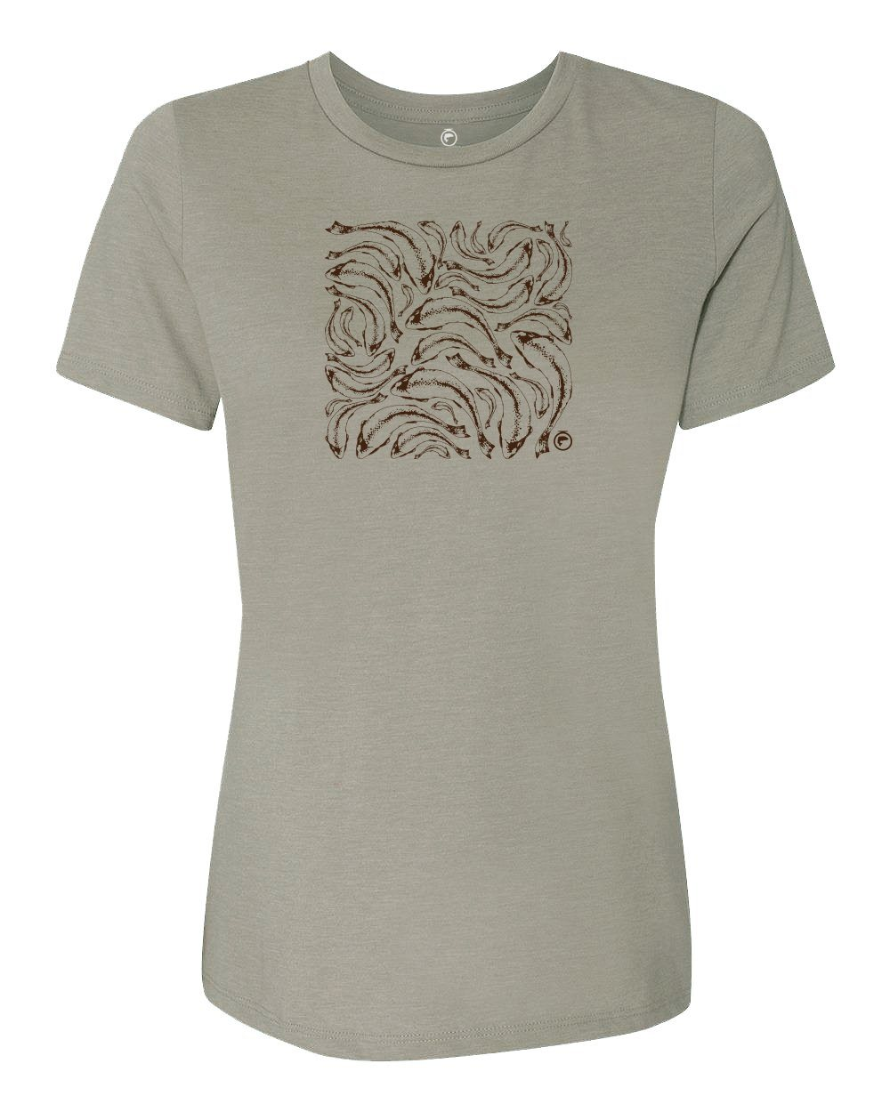 Trout Print Relaxed Tee - Ladies