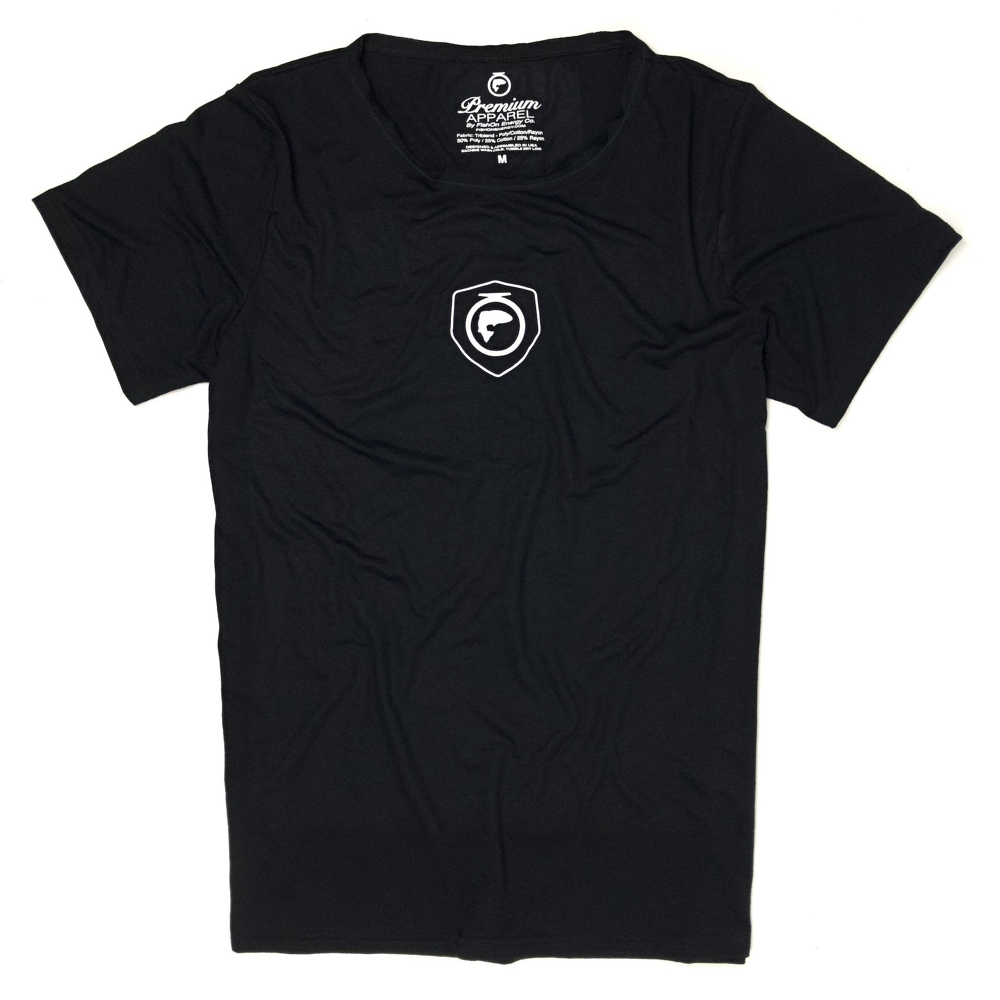Crest Logo SS Rough Neck Tee (W) (Unisex) - Black
