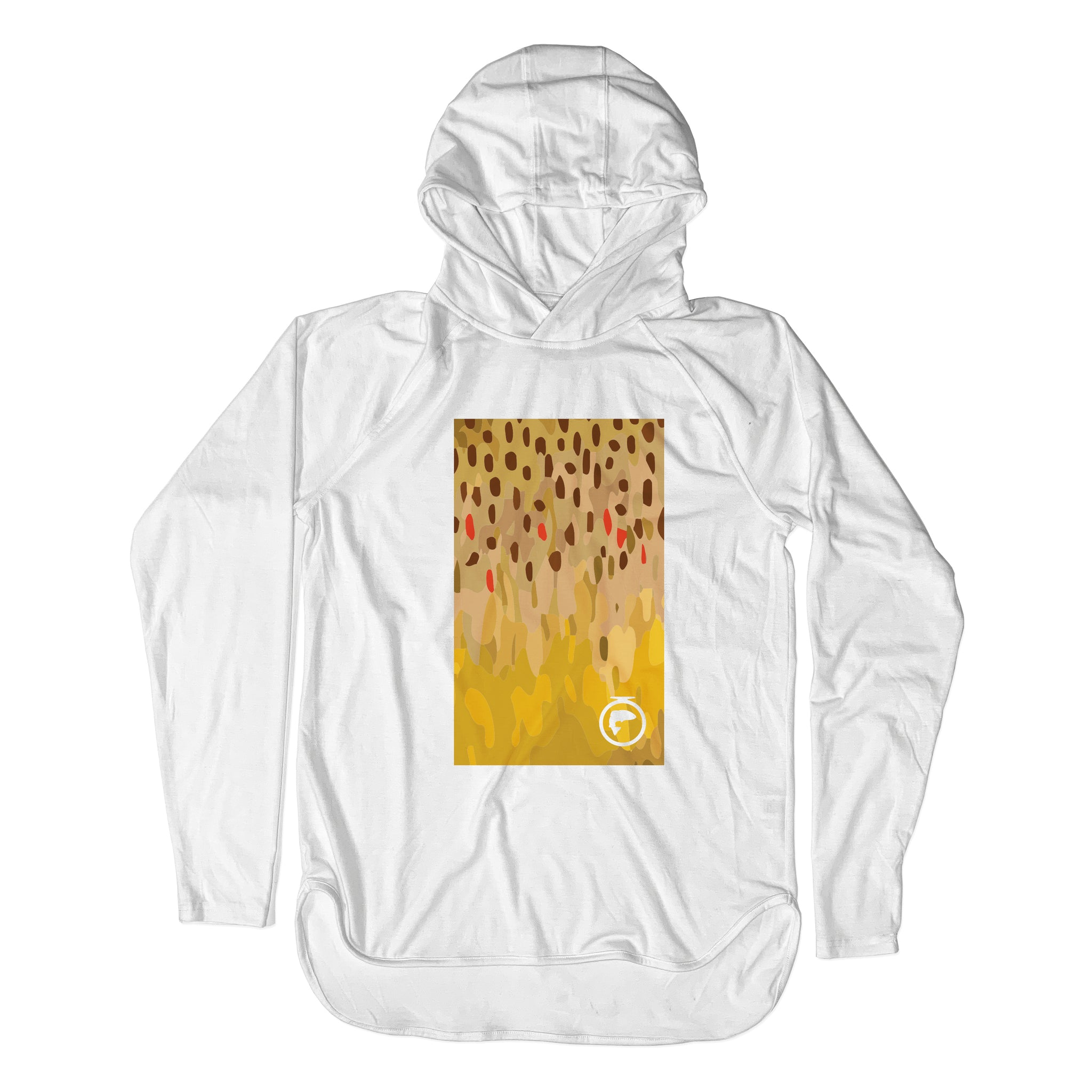 Xtreme Performance Pullover Sun Hoodie - Brown Trout Skin Art - Unisex