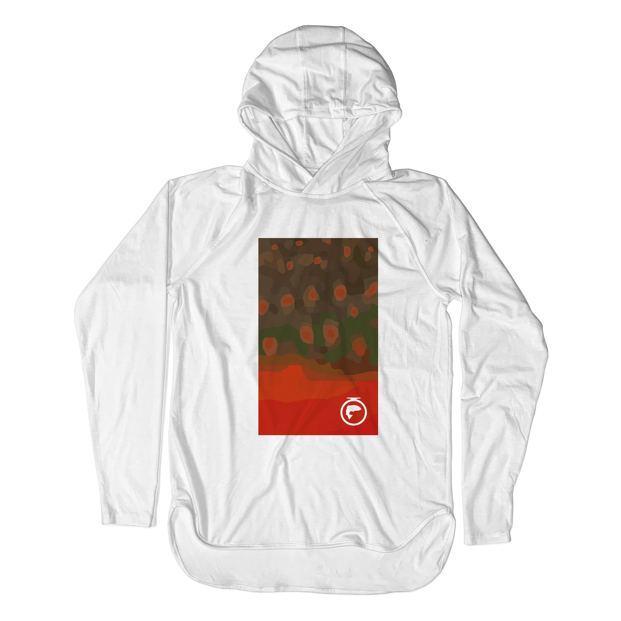 Xtreme Performance Pullover Sun Hoodie - Arctic Char Skin Art - Unisex