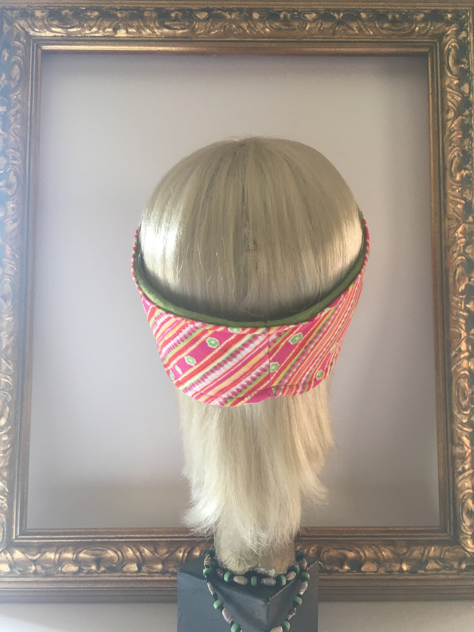 Floral Rainbow Corduroy & Fleece Headband