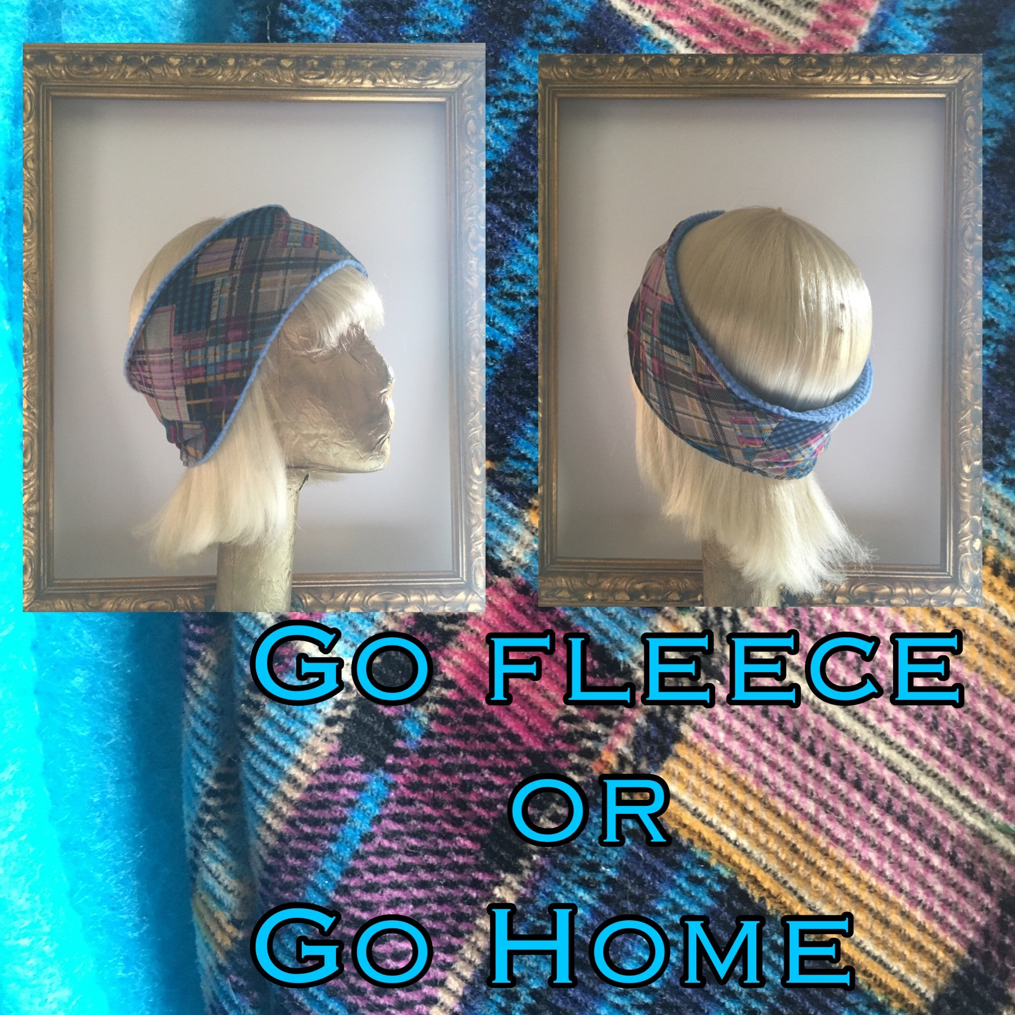 Plaid Corderoy & Fleece Headband