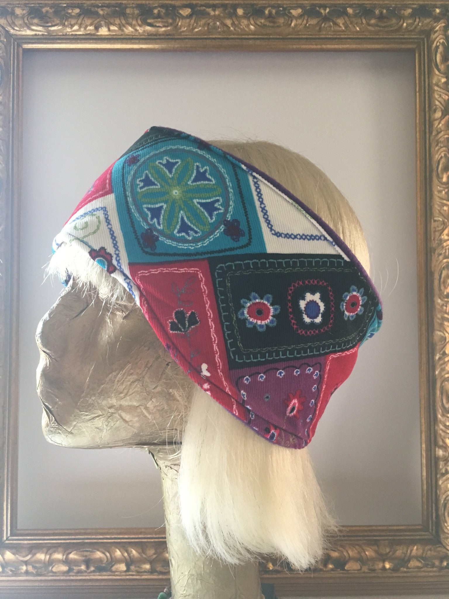 Patchwork Corduroy & Fleece Headband