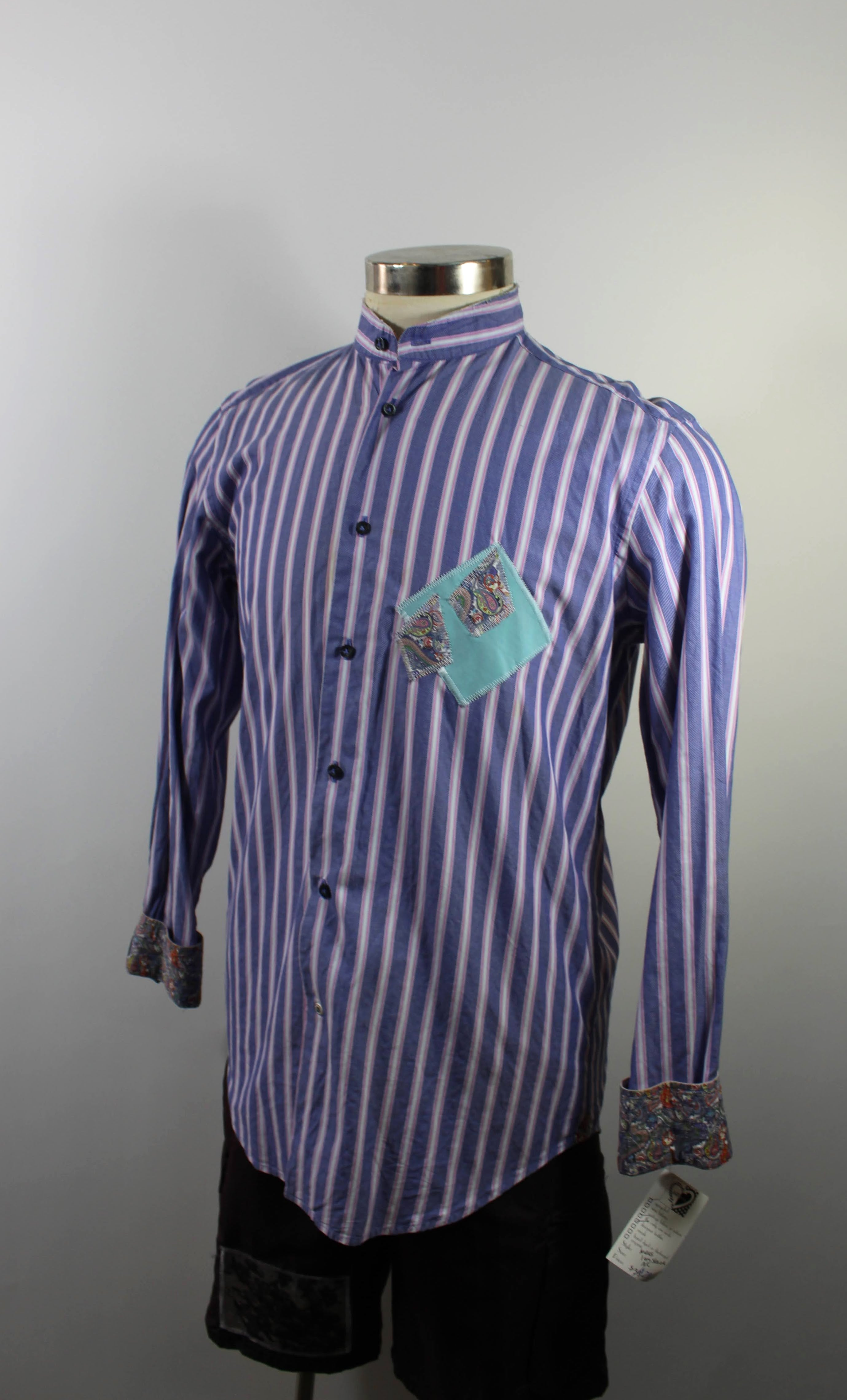 Blue and Pink Striped Long Sleeve
