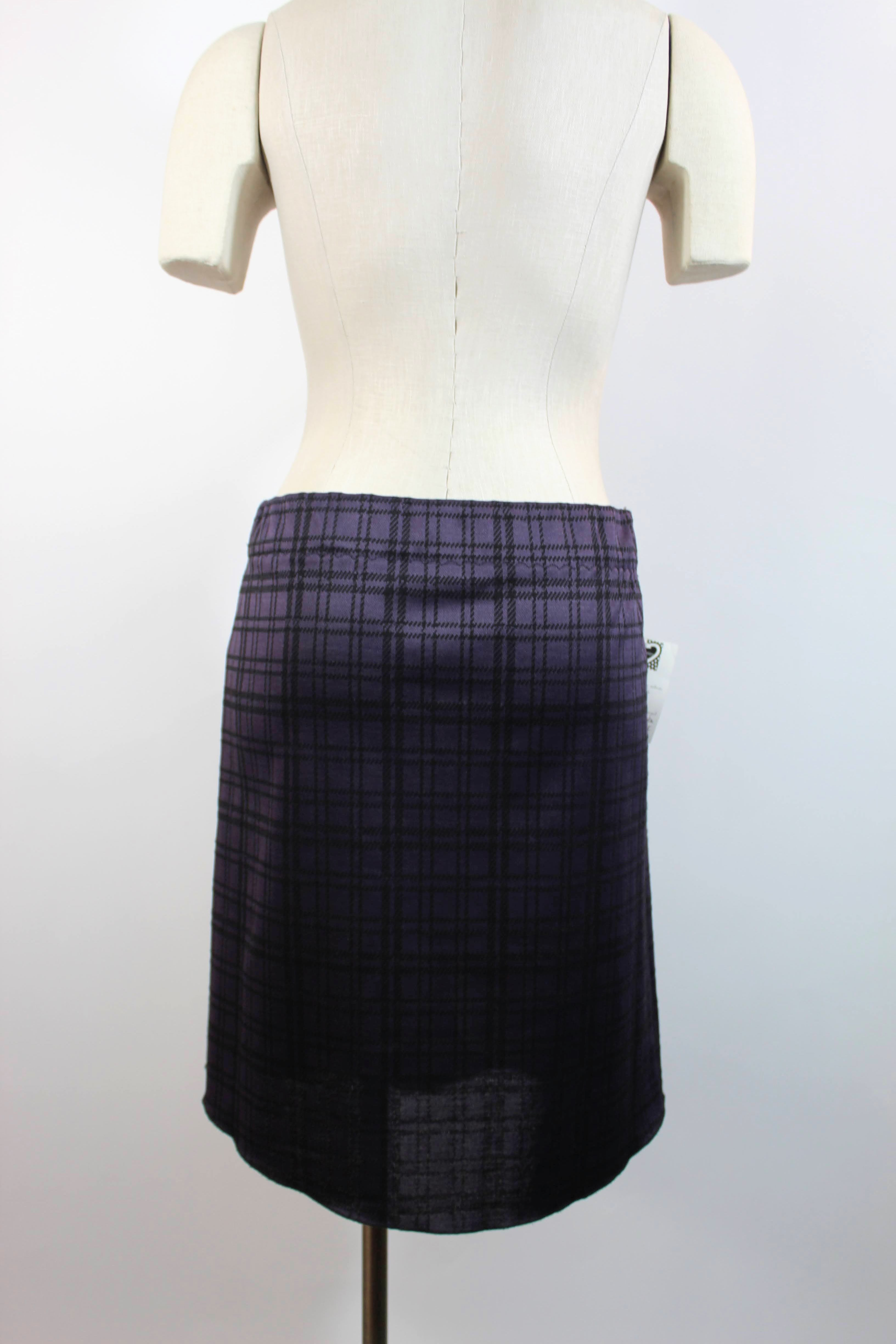 Purple Plaid Booty Skirt