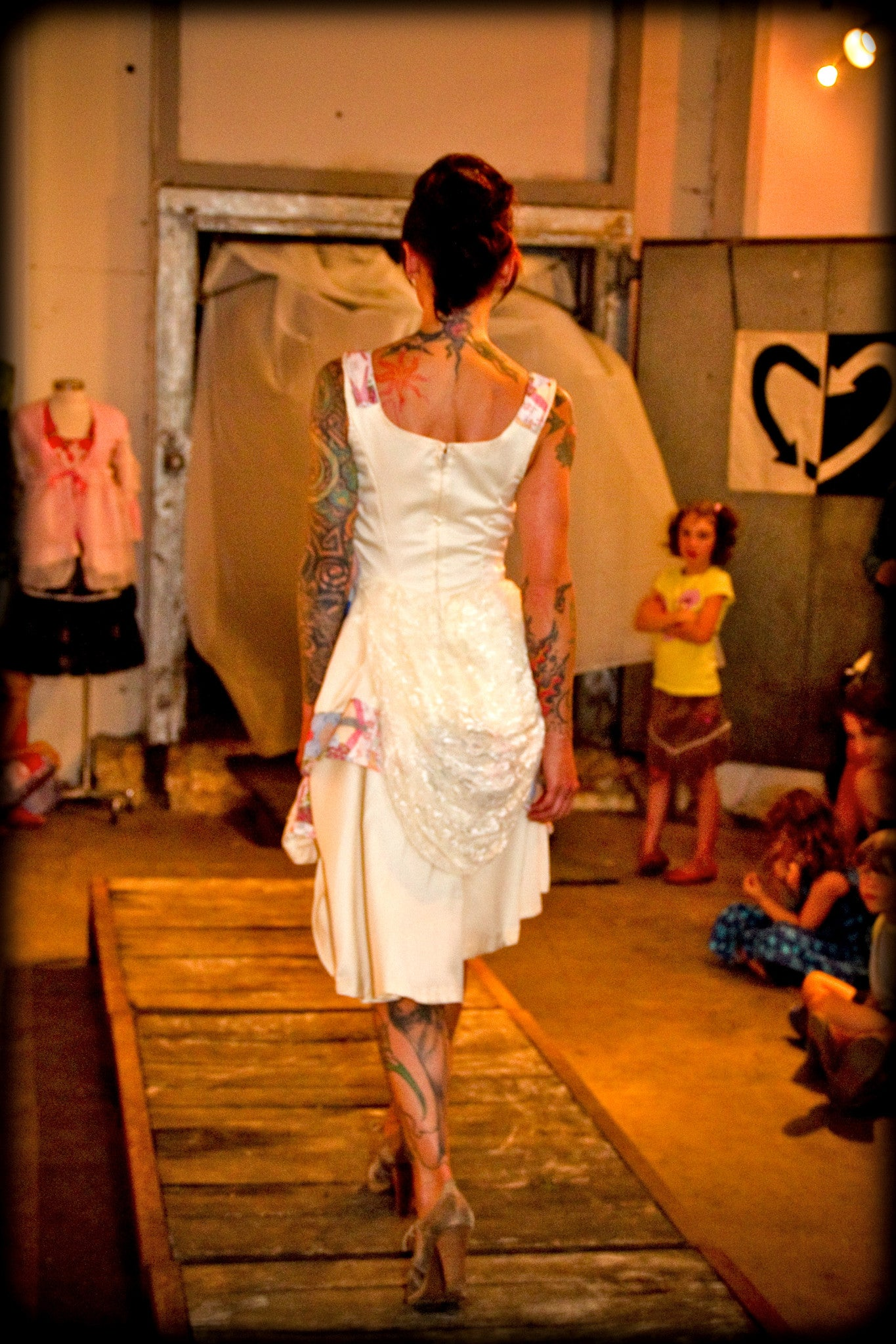 Patchwork Bridal Dress
