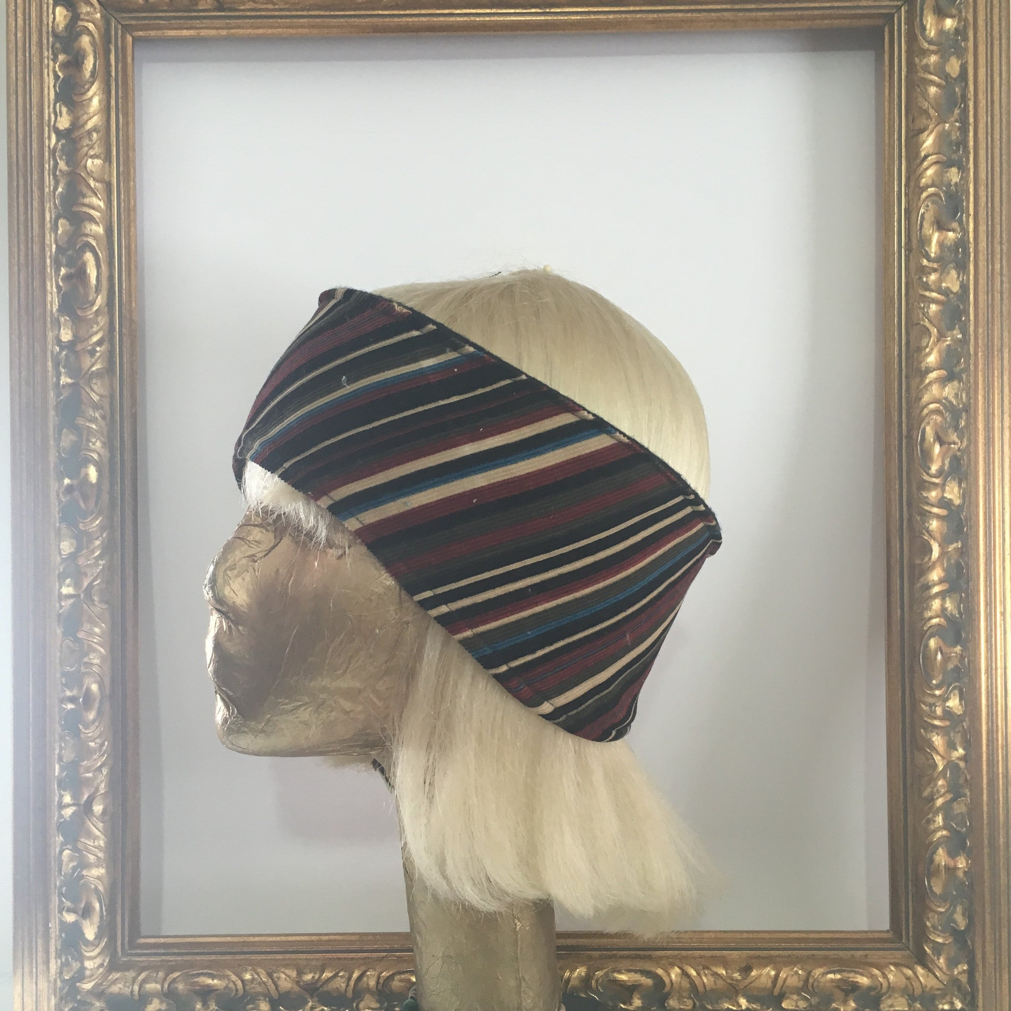 Rusty Striped Courderoy Fleece Headband