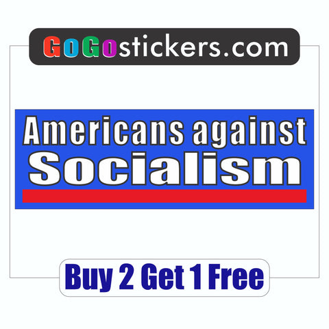 Anti-Bernie Sanders - Bumper Sticker - Americans against Socialism 2016 - GoGoStickers.com