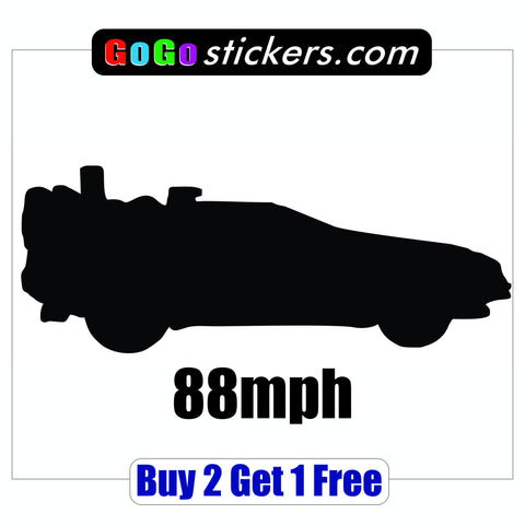 Back to the Future - 88mph - BTTF - GoGoStickers.com