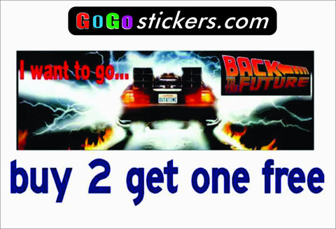 Back to the Future Bumper Sticker - BTTF - GoGoStickers.com