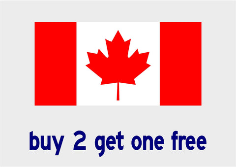 "Canadian Flag - Rectangle - apx 3.5"" x 7"" - Canada - Patriotic - GoGoStickers.com"