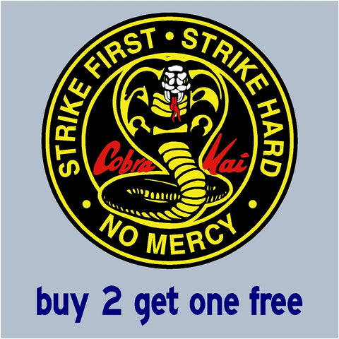Cobra Kai Sticker Dojo - The Karate Kid spinoff Johnny Lawrence - Daniel LaRusso - Ralph Macchio - GoGoStickers.com
