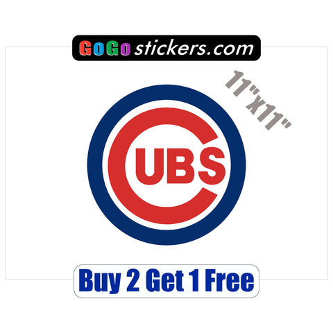 "Chicago Cubs XL Logo - World Series Champions 2016 - 8.5""x8.5"" - Sticker"
