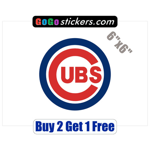 "Chicago Cubs Medium Logo - World Series Champions 2016 - 6""x6"" - Sticker - GoGoStickers.com"