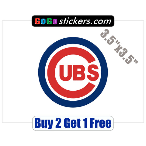 "Chicago Cubs Small Logo - World Series Champions 2016 - 3.5""x3.5"" - Sticker - GoGoStickers.com"