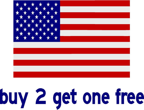 "American Flag - Rectangle - apx 11"" x 7"" - USA - Patriotic - GoGoStickers.com"