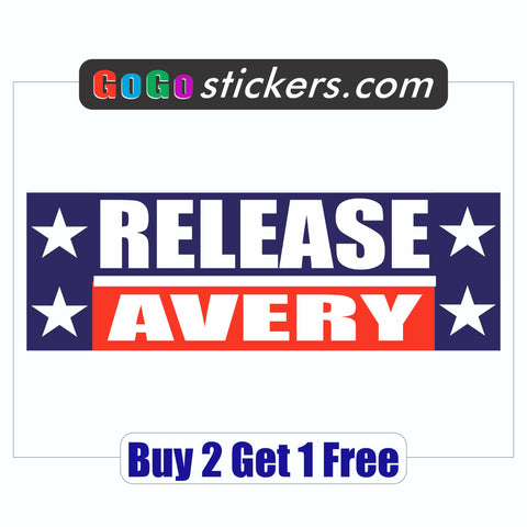 Steven Avery Bumper Sticker - Release Avery - Making a Murderer - GoGoStickers.com