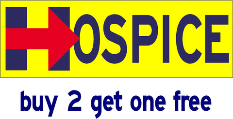 Hillary for Hospice - Bumper Sticker - 2016 - V8 - GoGoStickers.com