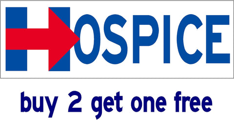Hillary for Hospice - Bumper Sticker - 2016 - V6 - GoGoStickers.com