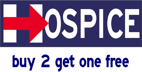 Hillary for Hospice - Bumper Sticker - 2016 - V7 - GoGoStickers.com